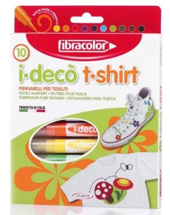 Fibracolor Tshirt Color Fine Nib Sketch Pens With Washable Ink