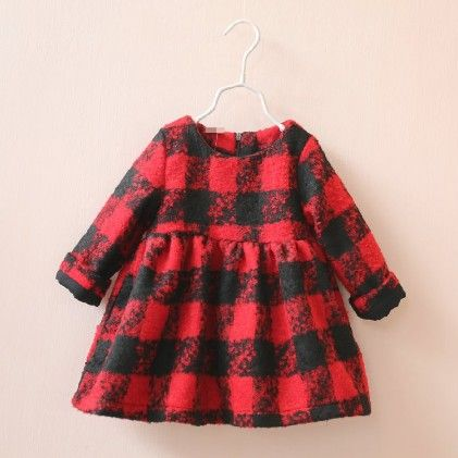 Red And Black Checkered Dress - Maisie