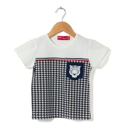White Round Neck T-shirt - NODDY
