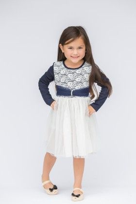 Blue & White Lace - Bodice Dress - Designs By Meghna