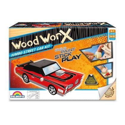 Wood Worx Jumbo Street Car - Colorific Education