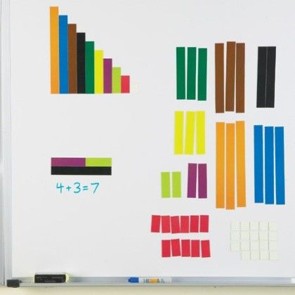 Magnetic Cuisenaire Rods - Set Of 64 - Constructive Playthings