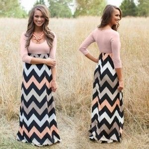 Wave Printed Maxi Dress - The Dressing Loft