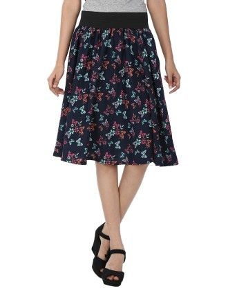 Shopingfever Floral Print Womens A-line Skirt