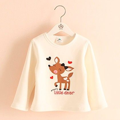 White Deer T-shirt - Mauve Collection