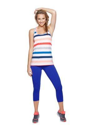 Slouchy Stripe Tank - Multi Colour - Lorna Jane