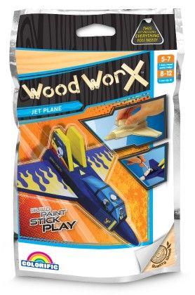 Wood Worx Mini Jet Fighter - Colorific Education