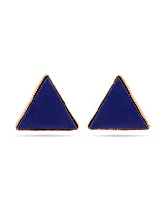 Voylla Triangle Shape Gold Toned Earrings