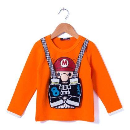 Orange Round Neck T-shirt - NODDY