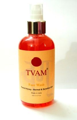 Face Wash - Rose & Honey - Noraml & Sensitive Skin - Tvam