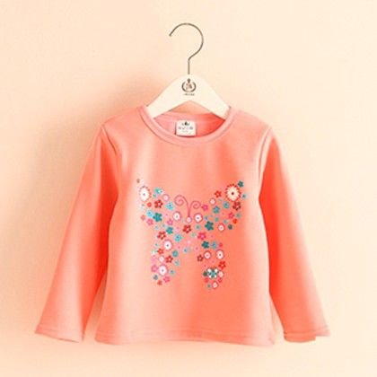 Butterfly Peach T-shirt - Mauve Collection