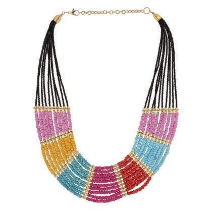 Trendy Multi Color Beads Long Necklace - Voylla