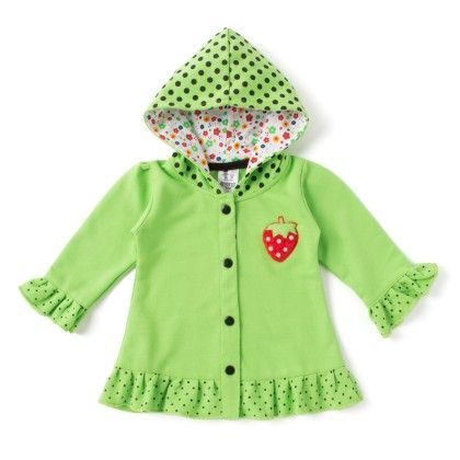 Green Full Sleeves Top With Hood - Addis
