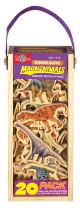 Dinosaurs Wooden Magnets 20 Piece Magnafun Set - TS Shure