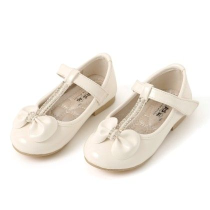 Belly Shoes With Bow Applique And Diamonds - White - BASH