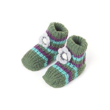 Woolen Booties Dk. Green - Janya