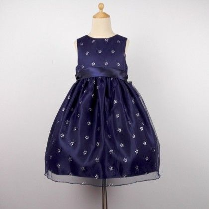 Royal Blue Silk Occasion Wear Dress - Cherry Blossoms