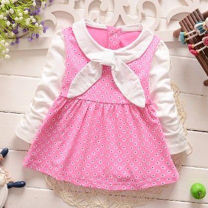 Pretty Pink Sailor Girl Dress - Peach Giirl