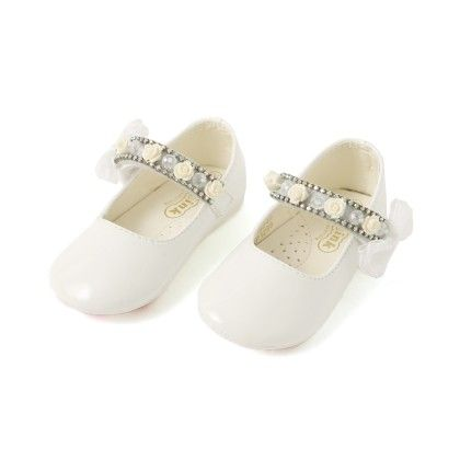 Doink Belly Shoes With Floral Applique - White