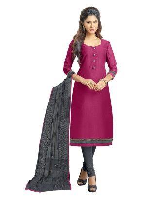 Unstitched Dress Material Purple & Grey - Riti Riwaz