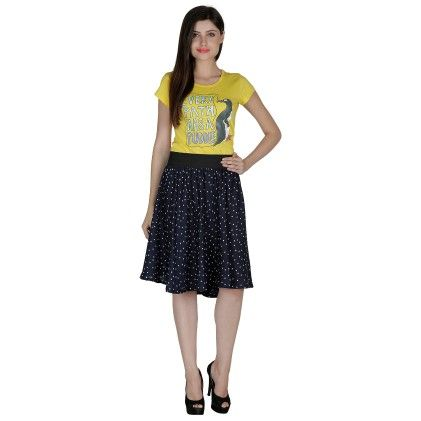 Shopingfever Polka Print Womens Regular Skirt