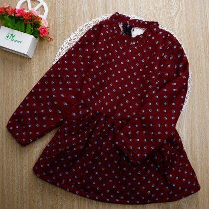 Cute Red Polka Dot Dress - LittleLuscious