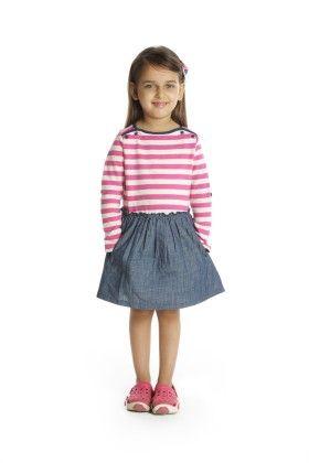 Pink Stripe Denim Dress - My Lil'Berry