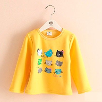 Yellow Kitty T-shirt - Mauve Collection