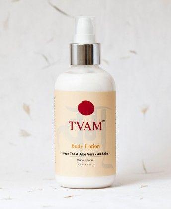 Body Lotion - Green Tea & Aloe Vera - All Skins - Tvam