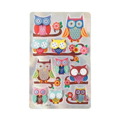 3d Laser Stickers (owl) - It's All About Me