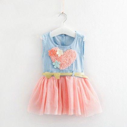 Pretty Pink Lace Dress - Peach Giirl