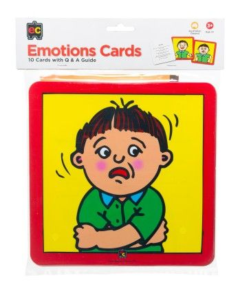 Emotions Cards -set Of 10 - Learning Can Be Fun