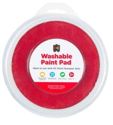 Paint Stamper Pad -red - Educational Colours