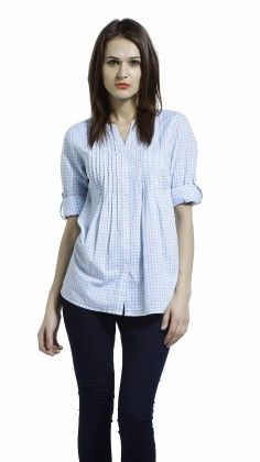 Classic Band Collar Button Down Shirt - S Buys