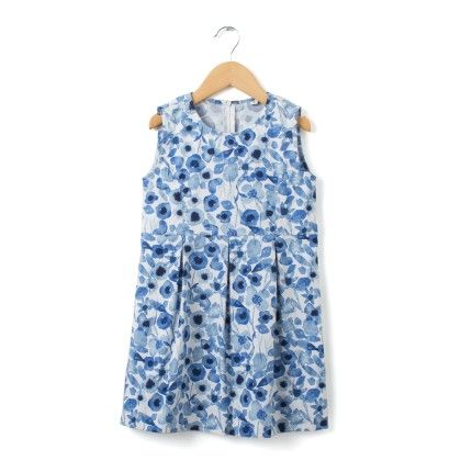 Blue Floral Print Shift Dress - Buttercups