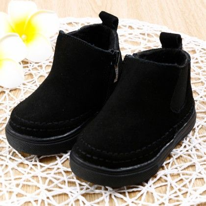 Black Boots With Side Zipper - Smart Shoes