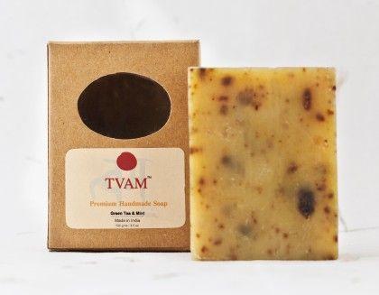 Soap- Green Tea & Mint - Handmade - Tvam