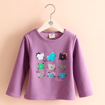 Purple Kitty T-shirt - Mauve Collection