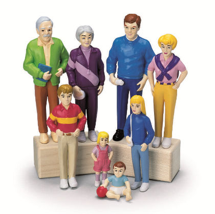 Pretend Play Family- White Family - Constructive Playthings