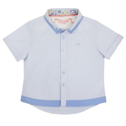 Louis Blue Stripes Shirt - Chateau De Sable