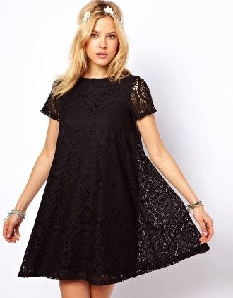Hollow-out Lace Dress - The Dressing Loft