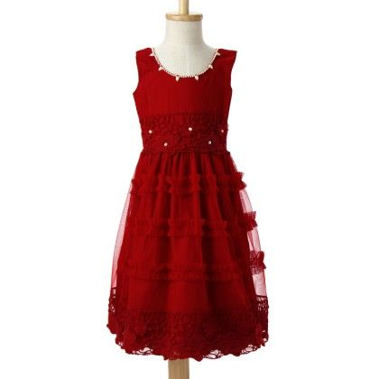 Marshmallow Cotton Net Dress With Cotton Crepe Lining