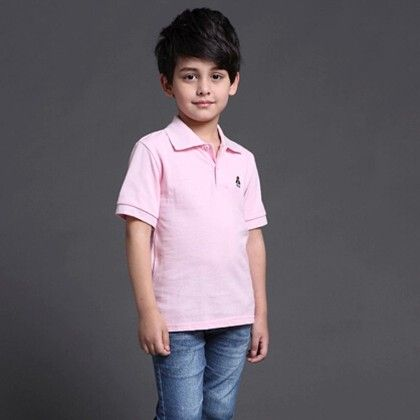 Spring Sumer Special Pink Shirt For Boys - Mauve Collection