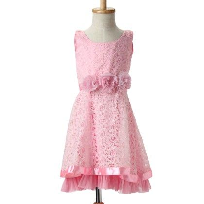Marshmallow Cotton Lace Dress With Cotton Crepe Lining - 250363