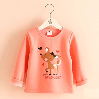 Peach Deer T-shirt - Mauve Collection