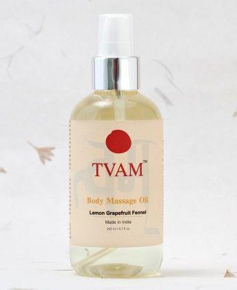 Body Massage Oil- Lemon Grapefruit & Fennel - Tvam