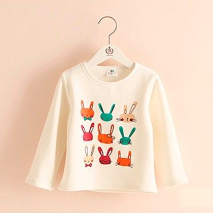 White Bunny T-shirt - Mauve Collection
