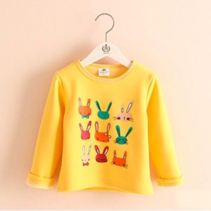 Yellow Bunny T-shirt - Mauve Collection