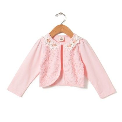 Pretty Rose Lace Shrug- Pink - Anaira