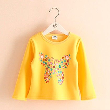 Butterfly Yellow T-shirt - Mauve Collection